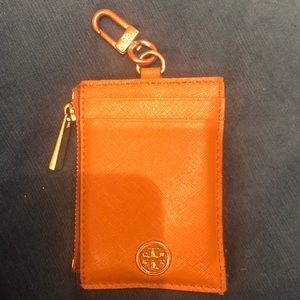 Tory Burch card case key ring